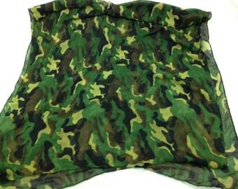 army camo scarf