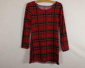 plaid short dress size S/M