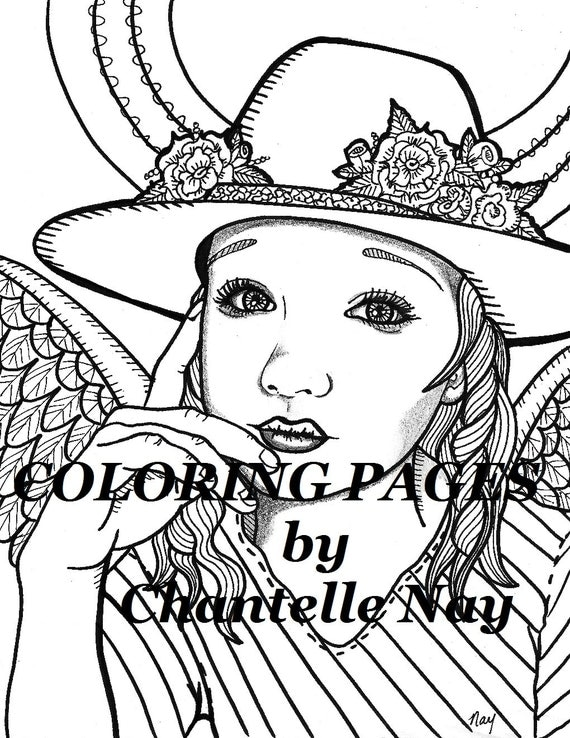 Cowgirl angel Coloring page woman