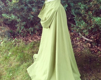 Linen Cloak, cosplay costume, kids costumes, Elven cloak, Renaissance garb, renfaire clothing, historical fantasy clothing, larp garb,