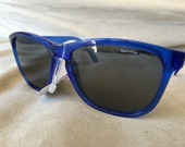 vintage 80's Bolle Acrylex 473 clear blue sunglasses gray lenses rare