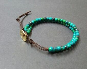 Double  Chain  Chrysocolla  Bracelet
