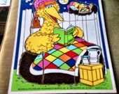 Collectible Wood Puzzle Playskool Big Bird Muppets 1984 Ctw Vintage