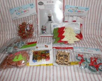 Christmas Supplies And Miniatures-New Bags