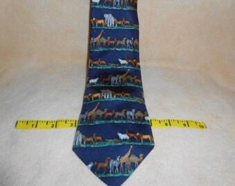 """Alynn Neckwear """"Safari"""" Men's 100% Silk Necktie"""