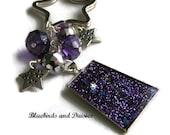 Purple Stardust Keyring Keychain