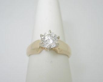 Stunning 14K .65 ct Brilliant NATURAL DIAMOND ENGAGEMENT Ring Size 6 R1026