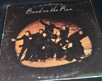 Vintage Vinyl Record Paul McCartney & Wings: Band on the Run Album SO-3415