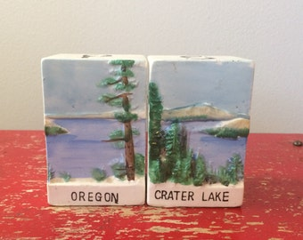 Oregon Crater Lake Salt and Pepper Shakers