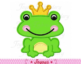Instant Download Frog Prince Applique Machine Embroidery Design NO:2163