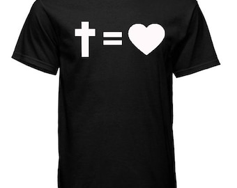 Cross Equals Loves Tshirts