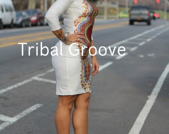 The Stretch Body Con Dashiki Dress