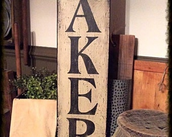 Hand stenciled sign
