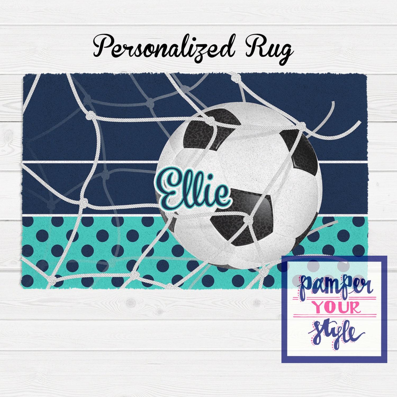 Soccer Personalized Bedroom Rug Custom Soccer By
