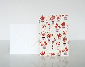 1 message Jardin d'hiver card - 1 carte à message Jardin d'hiver