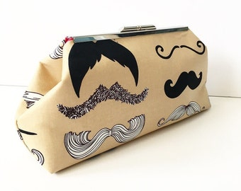 SALE Mustache Clutch