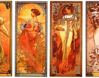 Classic Toofer- Four Seasons by Mucha