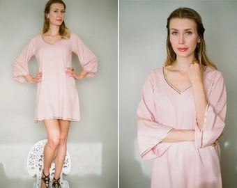 Willow. One Hand embroidered tunic in the softest rayon. Honeymoon dress Embroidered tunic Sequined kaftan Minimalist beach dress