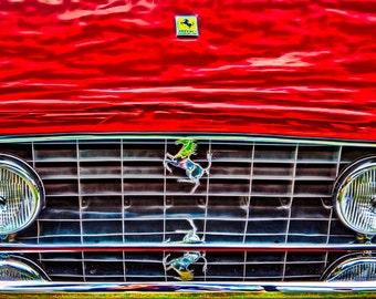 Ferrari Sports Car Prancing Horse Grill Hood Ornament Car Art - Fine Art Photography Print Picture