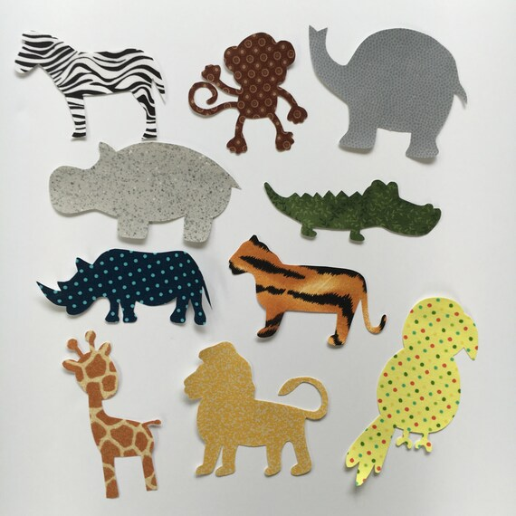 iron on appliques   jungle animal safari theme   for baby shower craft