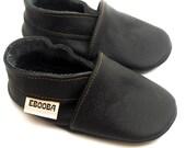 soft sole baby shoes infant kids children black  18 24 m  ebooba OT-17-B-M-4