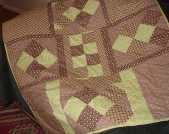 Brown and Green Lap Quilt