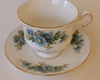 Queen Anne Teacup and Saucer Fine Bone China England