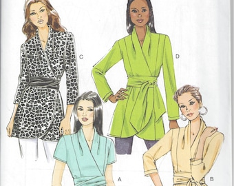 Butterick B5785 - UNCUT, OOP Misses' Top, Tunic and Sash Sewing Pattern - Sizes 8-16