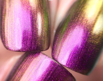 NEW-Rose Bud-Mega Multichrome- Multi-Color Shifting Polish:  Custom-Blended Glitter Nail Polish / Indie Lacquer / Polish Me Silly