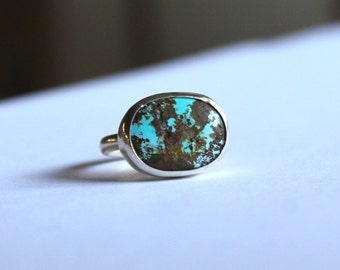 SALE Spotted Persian Turquoise Ring