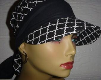 Chemo Hat,Chemo HeadwearWomens Sun Hat,SunVisor,Cancer Headwear,Chemo Cap,Alopecia,Scarf Hat,Scarf Visor, Visor,Do Rag Visor,Womens Hat