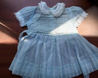 Sheer Blue Vintage Dress