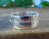Wholesale Ring Blank Silver Hammered Band 3mm or 4mm Band - Wholesale Ring, 4mm Band Ring, Silver Band Ring, Design Your Ring, Stamping Ring