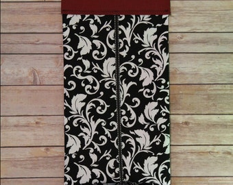 Classroom Door Safety Curtain--Black & White Scrolls