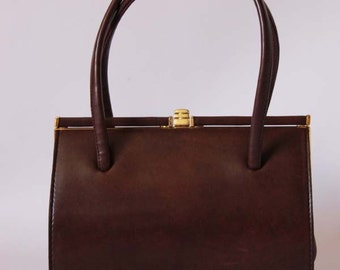 Authentic vintage 1950s Kelly handbag, 50s classic purse