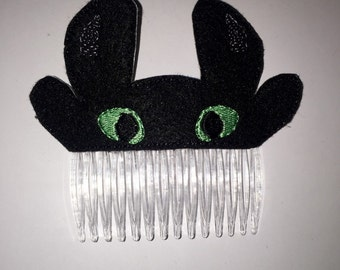 Night Dragon Hair Comb vintage hair accessories