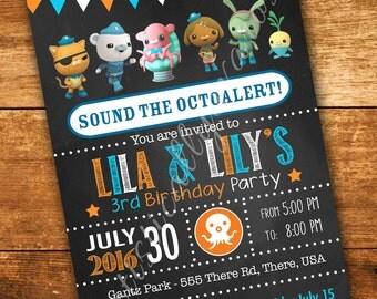 Octonauts Inspired Birthday Invitation - Digital PDF