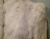 Vintage 70s 80s Short White Rabbit Fur Coat