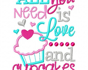 All you need is love and cupcakes - Valentines custom shirt