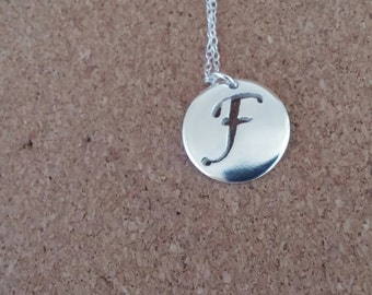 Letter F necklace Letter necklace Initial necklace Name necklace Birthday gift Charm necklace Monogram necklace Silver necklace Letter F
