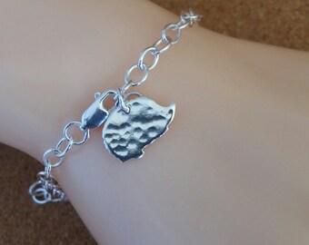 Hedgehog Charm Bracelet Dainty Silver Sterling Silver Bracelet
