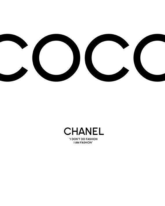 Coco Chanel Coco Chanel Decor Coco Chanel Print Coco By