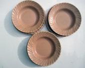 Franciscan Ware China Coronado Matte Coral Pink Sauce Bowls and Bread and Butter Plates - Sets of 4
