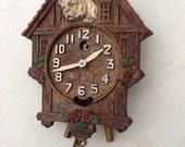 Antique Keebler Cuckoo clock with bull dog!!
