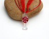 Fused Wine Glass Pendant