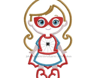 Spider Girl Super Hero Embroidery Design