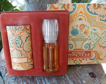 Vintage 1973 Max Factor Hypnotique Set  Jacobean Cologne Powder Gift Set