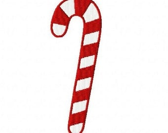 Christmas candy cane machine embroidery design 4 inch instant download