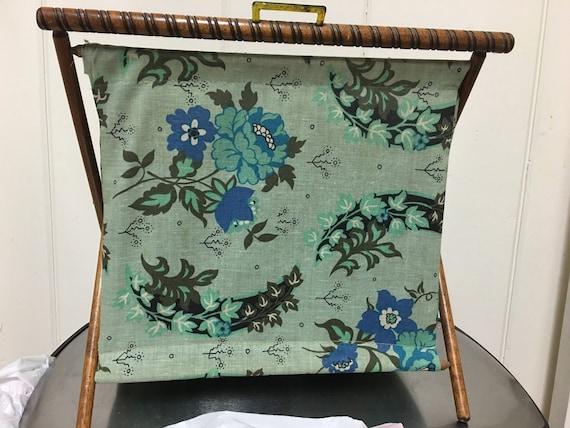 Vintage Folding Knitting Basket : Vintage folding sewing knitting basket