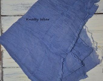 Perwinkle Hand Dyed Harem Cheesecloth
